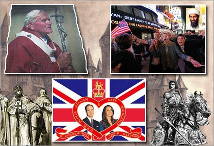 Tre separata händelser har fört världen bakåt i den historiska utvecklingen.