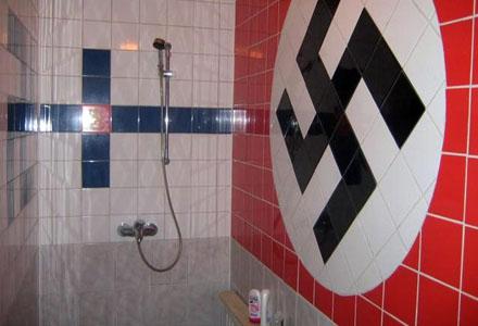 Det felkaklade duschrummet som startat konflikten.