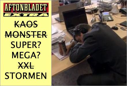 Samtidigt på Aftonbladets redaktion