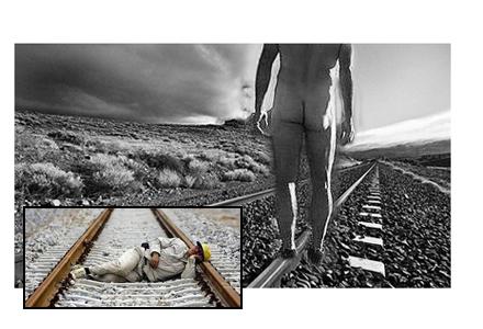 I sommar blir nakenvandrare en vanlig syn längs våra svenska tågspår. Mannen med kläder är en av friluftshotellets anställda