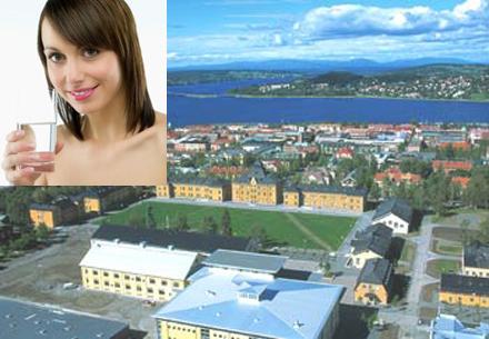 Östersunds invånare dricker vatten för full hals.