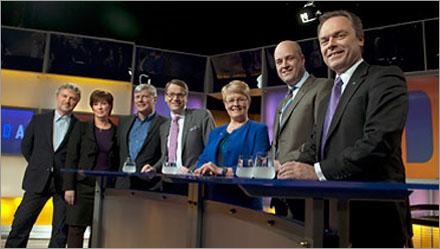 Samtliga partiledare var överens om allting vid SVT:s debatt.