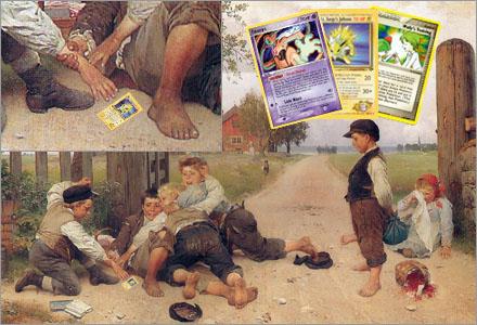 Pokemonkorten lockar fram de värsta egenskaperna hos barn.