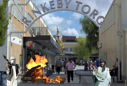 Rinkeby torg, ungefär som Kabul City.