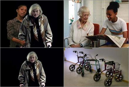 Gertruds personliga assistent Fatima klipptes bort från SD:s reklamfilm.