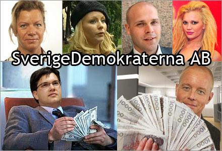 Sverigedemokraterna �r ett f�retag d�r den inre kretsen f�r toppl�ner.