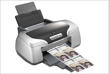 Allt som behövs för att skriva ut dina egna pengar är en bläckstråleskrivare.
