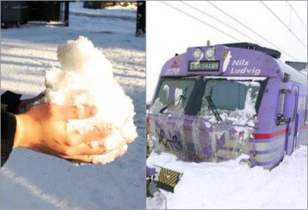 Det här är snö, fattar ni det era dumma jävlar?