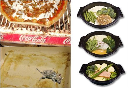 Trots snusk är pizzerians mat näringsrikare och smakligare än Sodexos mat.