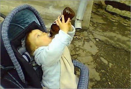 Antalet spädbarn med alkoholproblem har ökat mångfaldigt de senaste åren.