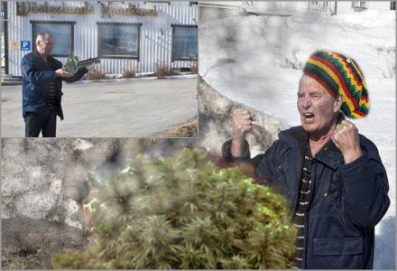 Kåge Pesterlund i Lunde vill att det klargörs vems ekonomiska ansvar det är när snöröjningen orsakar skador på odlingarna på tomten.