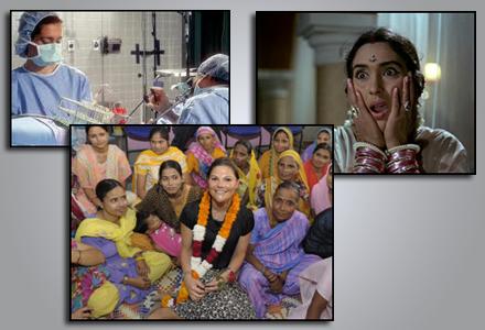 Parvati Devi, lilla bilden till höger, är mycket lycklig över att befruktningen lyckats