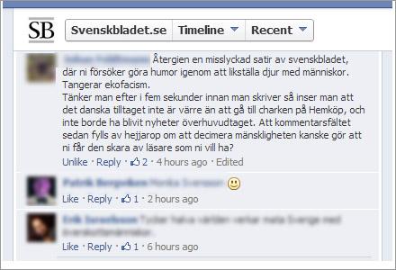 Kommentaren som sänkte hela Svenskbladet.