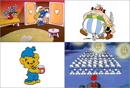 """Smurfarna; """"En stor gay-community ute på landet"""", och de drogglorifierande missbrukarna Bamse och Asterix."""