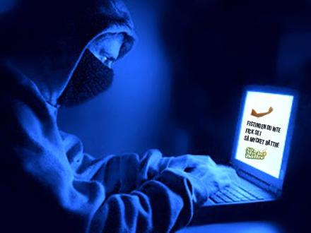 Hackare med låg humor hackade känd nyhetssajt