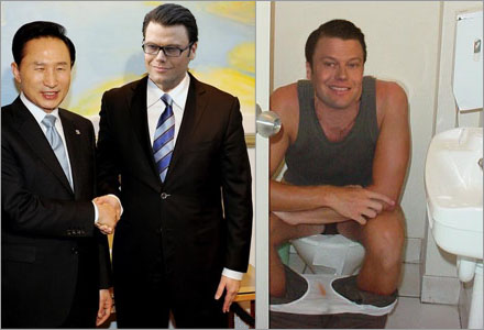 Daniel Westlings toalettbesök var nära att orsaka en diplomatisk kris.