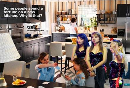 """Me love IKEA kitchen long time"""