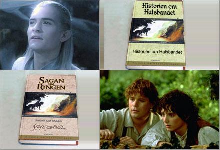 Historien om halsbandet har en handling som liknar klassikern Sagan om Ringen.