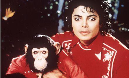 Michael Jackson med sin grodintresserade (?) snuskapa Bubbles