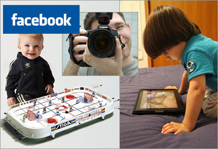 Pappan tog bilder lämpade för en riktigt grym profilbild för Facebook.