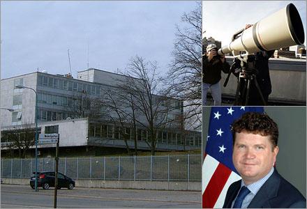 USA:s ambassad registrerar inte någon (som är längre bort än vad teleskopet kan se).
