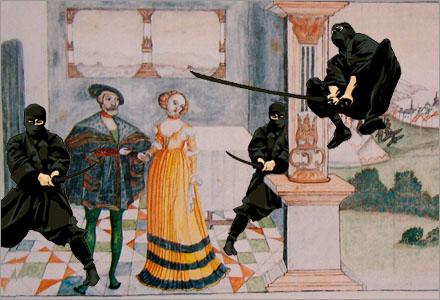 Den 6:e Juni 1526 överlevde Gustav Vasa en hänsynslöst Ninjaöverfall.