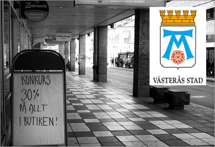 Västerås centrum är extra deprimerande.