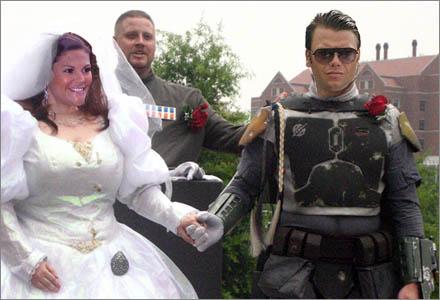 Prinsessan Victoria blir den första kungligheten som gifter sig i ett Star Wars-bröllop.