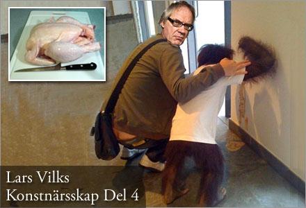 Lars Vilks matförgiftade schimpansen Trolli inför sin föreläsning.