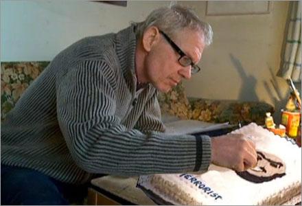 Det tog enbart Vilks en natt att baka tårtan som han ska spränga senare under dagen.
