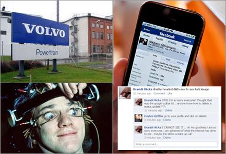 Nedan, en av Volvos anställda genomgår det särskilda Volvo-tänkprogrammet.