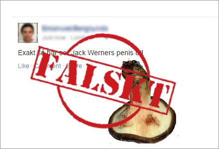 Jack Werners ex flickvän postade en bild som Viralgranskaren avslöjade som falsk.