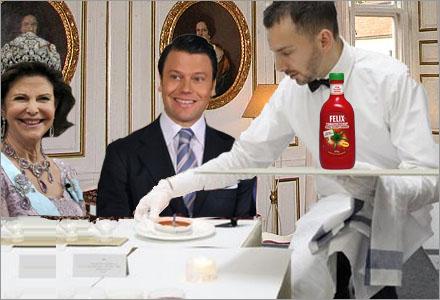 Daniel Westling beställde ketchup vid statsmiddagen med Belgiens premiärminister.