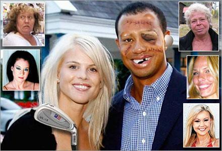 Elin bär nu alltid på en golfklubba då hon syns i sällskap med maken.